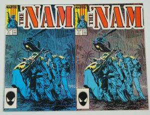 the 'Nam #6 VF/NM + color variant - marvel comics set - murray golden error? lot