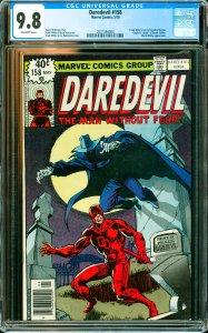 Daredevil #158 CGC Graded 9.8 Frank Miller's run on Daredevil begins. Origin ...