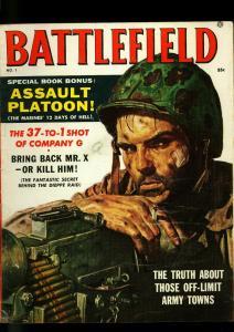 Battlefield Pulp Magazine #1 1957- Charles Copeland - James Bama- VG