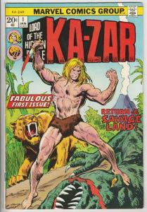 Ka-Zar #1 (Jan-74) NM- High-Grade Ka-Zar