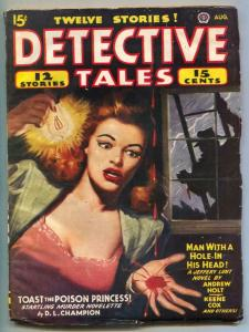 Detective Tales Pulp 8/45- Toast the Poison Princess