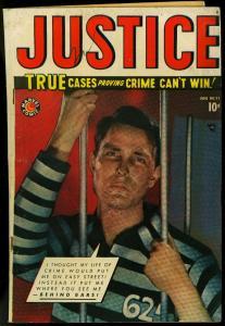 Justice Comics #11 1949- Marvel Golden Age Crime- VG