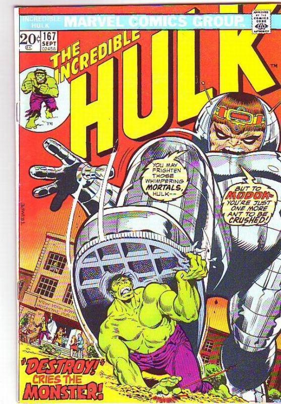 Incredible Hulk #167 (Sep-73) VF/NM High-Grade Hulk