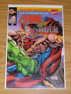 Prime vs Hulk #0 VF/NM limited super premium edition signed w/dynamic forces COA