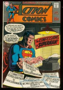 ACTION COMICS #380 1969- SUPERMAN-DC COMICS FN