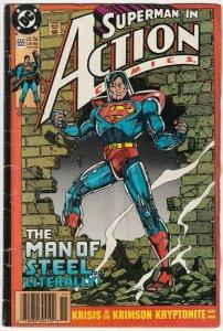 Superman In Action Comics #659 Krisis Of The Krimson Kryptonite November 1990