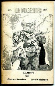 Diversifier 9/1977-CC Chingan-Early Ron Wilbur art-Jack Williamson-rare-FN