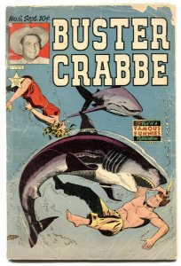 Buster Crabbe Comics #6 1952- Shark cover- Golden Age western VG-
