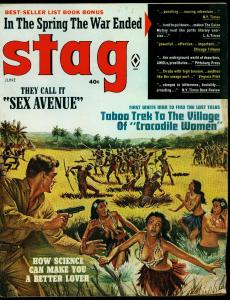 Stag Pulp Magazine June 1966- Karen Field Crocodile Women G