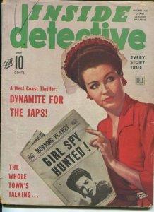 INSIDE DETECTIVE-07/1943-DYNAMITE FOR THE JAPS- THE WEAKER SEX- VG