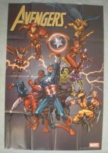 AVENGERS Promo poster, THOR, HULK, 24x36 , 2005, Unused, more in our