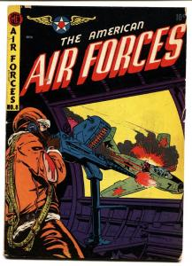 American Air Forces #8 1952- BOB POWELL cover art  Golden Age
