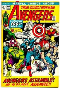 THE AVENGERS #100 (June1972) 8.0 VF 14 AVENGERS Battle Olympus! Barry Smith!