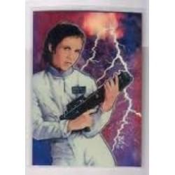 1996 Topps Finest Star Wars PRINCESS LEIA ORGANA SOLO #3 Chromium