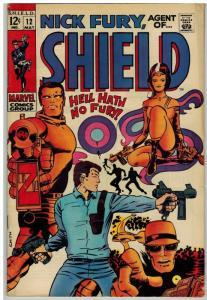 NICK FURY AGENT OF SHIELD 12 VG-F May 1969 BWSmith