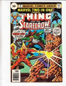 Marvel Two-In-One #18 FN- thing - scarecrow - 30 cents price variant - 1976