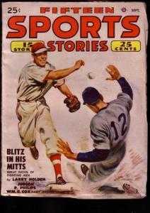 FIFTEEN SPORTS STORIES 1948 SEPT POPULAR PUBS FILE COPY VF