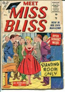 Meet Miss Bliss #4 1955-Marvel-Good Girl art-PR/FR