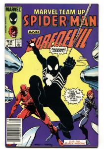 Marvel Team-up #141 First  Black Costume Spider-man NEWSSTAND ed