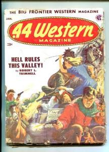.44 WESTERN-01/1953-VIOLENT WESTERN PULP THRILLS- GUNFIGHT COVER-JOHN JAKES-good