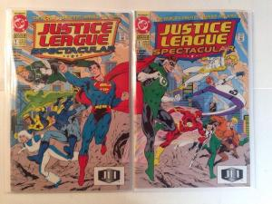 Justice League Spectacular 1 2 contecting Covers Near Mint Lot Set Run