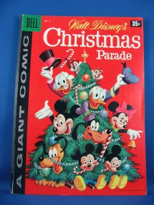 Dell Giant WALT DISNEY CHRISTMAS PARADE 9 Fine Barks Uncle Scrooge 1958
