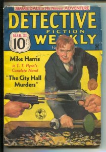 Detective Fiction Weekly 3/27/1935-Hero pulp-The Grey Seal appears-Violent cr...