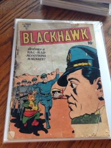 Blackhawk 27 Fair Golden Age Quality COmics Group Reader/Filler copy