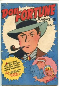 DON FORTUNE #1-1946-C.C. BECK-DELECTA OF THE PLANETS-SOUTHERN STATES-fn