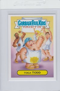 Garbage Pail Kids Toga Todd 39b GPK 2016 American As Apple Pie In Your Face