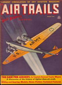 Air Trails 8/1937-Bill Barnes-hero pulp-George L Eaton--FN-
