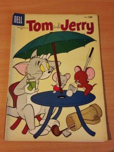 Tom & Jerry Comics #153 ~ GOOD - VERY GOOD VG ~ 1957 DELL Comics