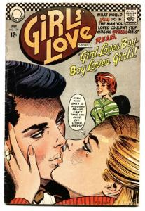 GIRLS' LOVE STORIES #128-DC ROMANCE Girl Crazy Men!!!