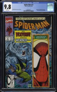 Spider-Man (1990) #11 CGC NM/M 9.8 White Pages
