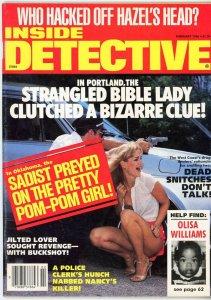 Inside Detective Magazine  1986 Snitches Killers Bizarre Pom-Pom Girl Buckshot