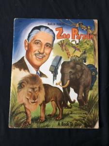Marlin Perkins' Zoo Parade Coloring Book #1201 1953
