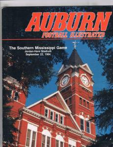 Auburn Football Illustrated Magazine Game Program Southern Miss Sept. 1984 J141