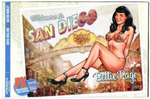 BETTIE PAGE #1, NM-, SDCC, Linsner, Variant PX, 2017, Betty, more in store