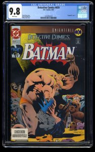 Detective Comics #659 CGC NM/M 9.8 White Pages Knightfall Part 2!