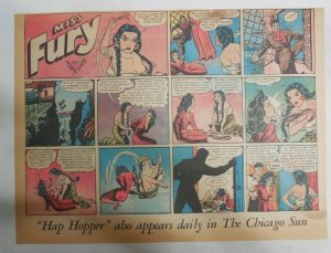 Miss Fury Sunday by Tarpe Mills from 6/21/1942 Size: 11 x 15  Very Rare Year #2