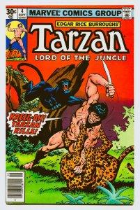 Tarzan 4 NM+ 9.6 Marvel 1977 Uncertified FREE SHIP