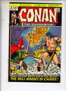 Conan the Barbarian #15 (May-72) VF High-Grade Conan the Barbarian