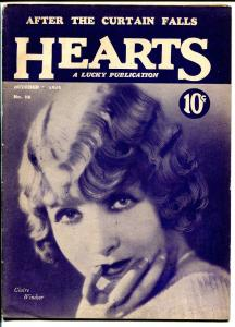 Hearts #18 10/1/1928-romance pulp-very rare-posed pix-Claire Windsor-VG