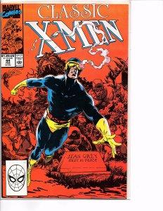 Marvel Comics Classic X-Men #44 NM Cyclops/Jean Grey Tombstone cover