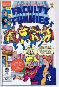 Faculty Funnies #1 ORIGINAL Vintage 1989 Archie Comics