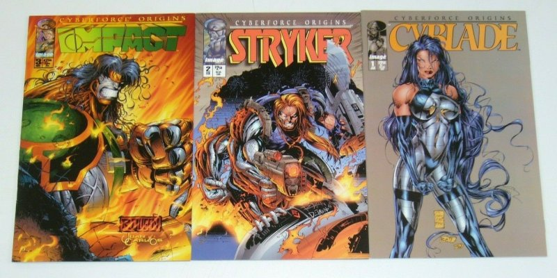 CyberForce Origins #1-3 VF/NM complete series - michael turner - cyblade set lot