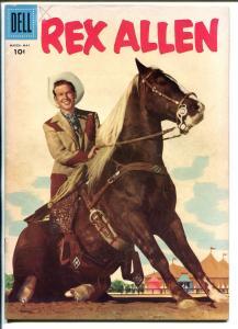 Rex Allen #20 1956-Dell-movie photo cover-western-horse Koko-VF