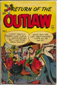Return Of The Outlaw #3 1954-Toby-Billy The Kid-VG