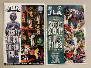 JLA Secret Society of Super-Heroes set from:#1-2 DC 2 pieces 8.0 VF (2000)
