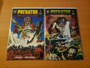 Predator: The Bloody Sands of Time 1-2 Complete Set Run! ~ NEAR MINT NM ~ 1992